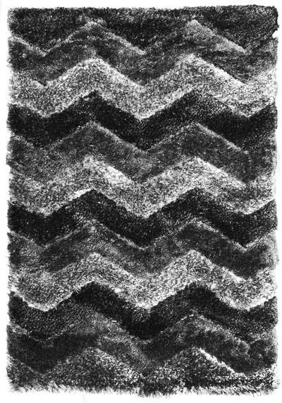 Koberec - Istanbul S3640, 140x200 cm (sivočierna)
