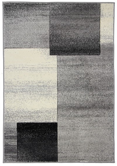 Koberec - Joy de luxe L127/7182, 120x170 cm (sivočierna)