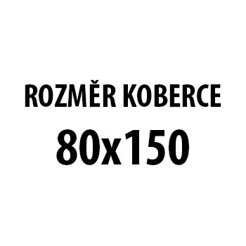 Koberec - Miami 6550, 80x150 cm (červenočierna)