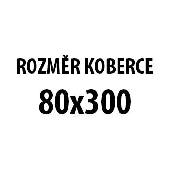 Koberec - Miami 6550, 80x300 cm (červenočierna)
