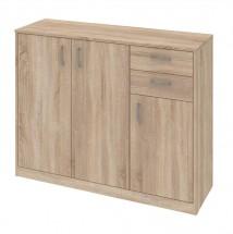 Kobo - komoda, 3 dvere, 2 zásuvky, 3 police (dub bardolino)