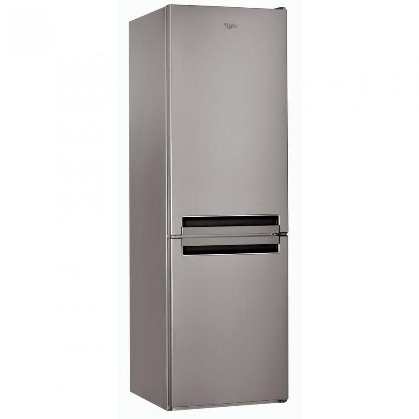 Kombinovaná chladnička Kombinovaná chladnička s mrazničkou dole Whirlpool BSNF 8122 OX