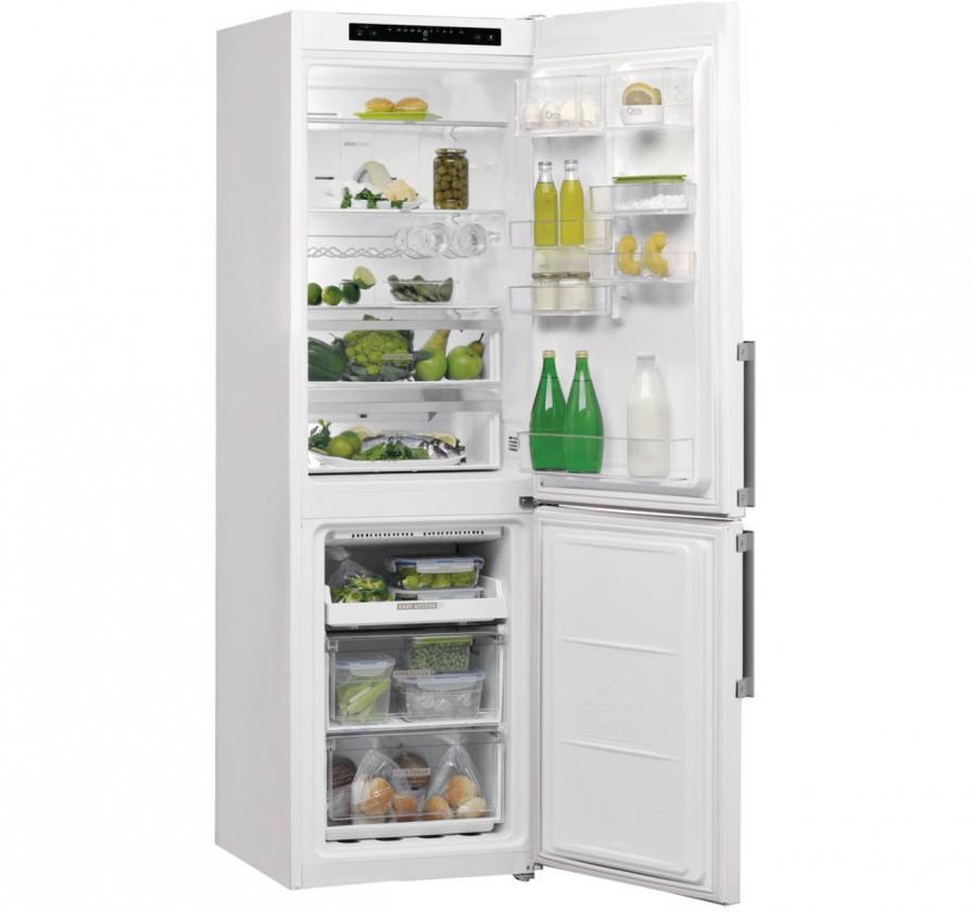 Kombinovaná chladnička Kombinovaná chladnička s mrazničkou dole Whirlpool W7 831A W H