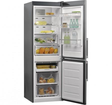 Kombinovaná chladnička Kombinovaná chladnička s mrazničkou dole Whirlpool W9 821D OX H