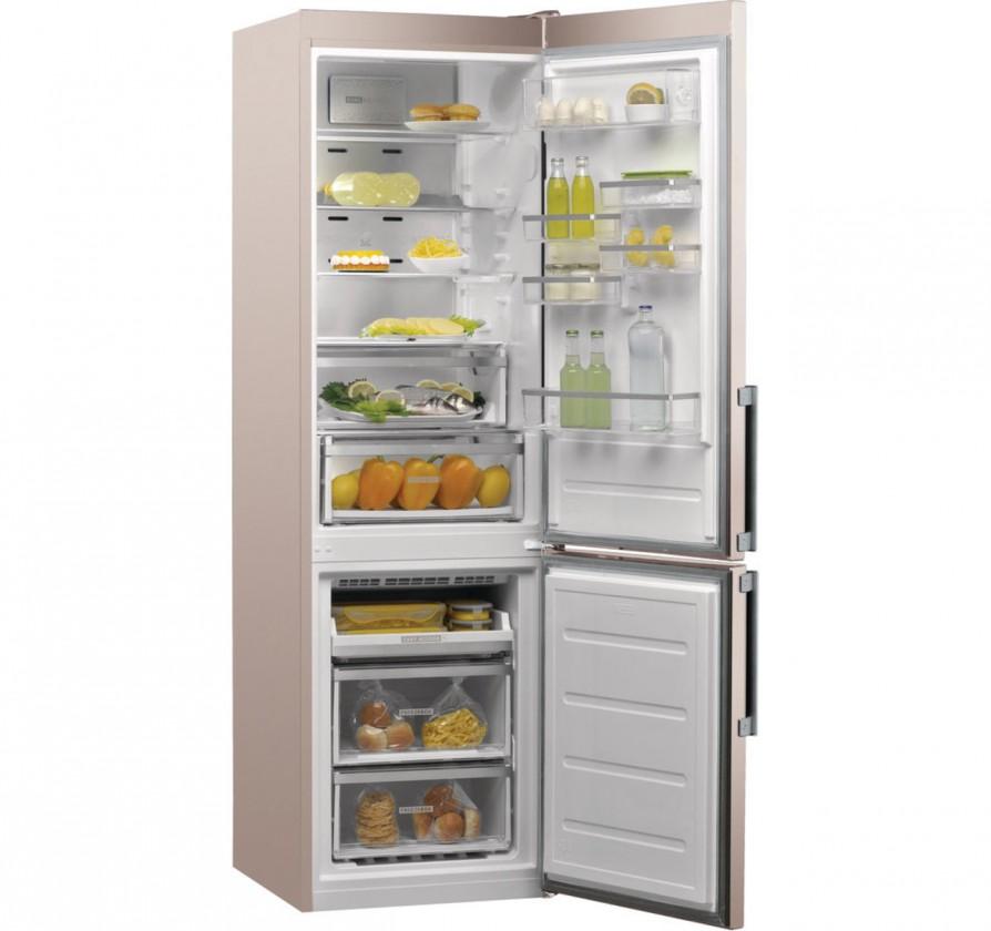 Kombinovaná chladnička Kombinovaná chladnička s mrazničkou dole Whirlpool W9 931D B H