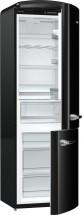 Kombinovaná chladnička s mrazničkou dole Gorenje ORK192BK