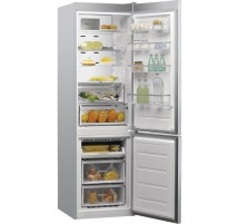 Kombinovaná chladnička s mrazničkou dole Whirlpool W9931D IX A++