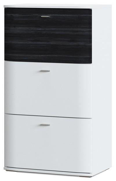 Komoda Denver Typ 05 (biela artic/čierna strukturovaná)