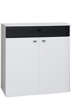 Komoda Denver Typ 06 (biela artic/čierna strukturovaná)