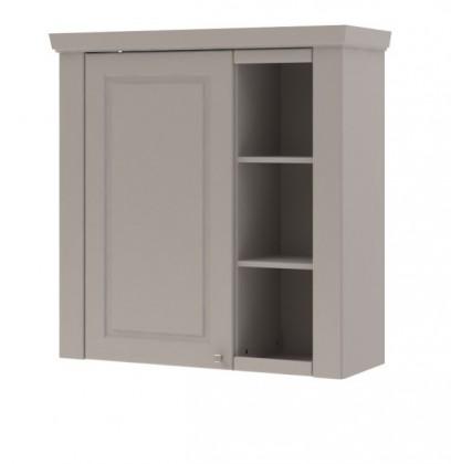 Komoda Domi - Skrinka závesná ľavá, 1x dvere, 3x polica (kašmír)