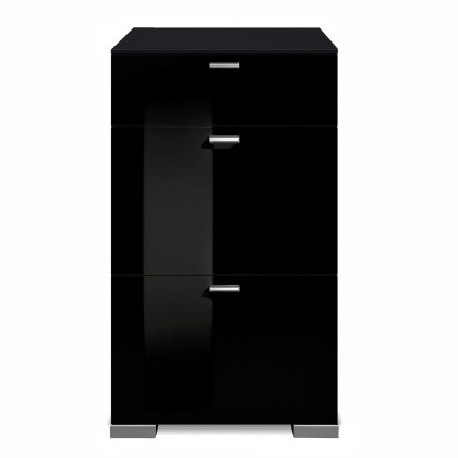 Komoda Gallery HG2 (čierna/čierny lak HG)