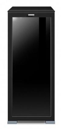 Komoda Gallery Plus 1 (černá/sklo čierne)