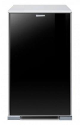 Komoda Gallery Plus 11 (biela/sklo čierne)