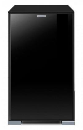 Komoda Gallery Plus 11 (černá/sklo čierne)