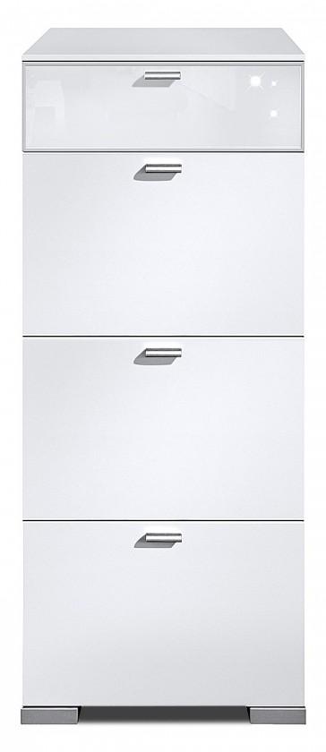 Komoda Gallery Super Plus 2 - Komoda (biela/sklo číre biele)
