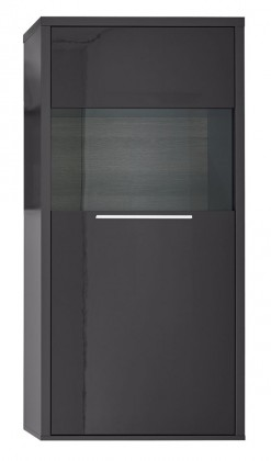 Komoda Gamble - Komoda 570121L (antracit/antracit lesk/panel dub tmavý)