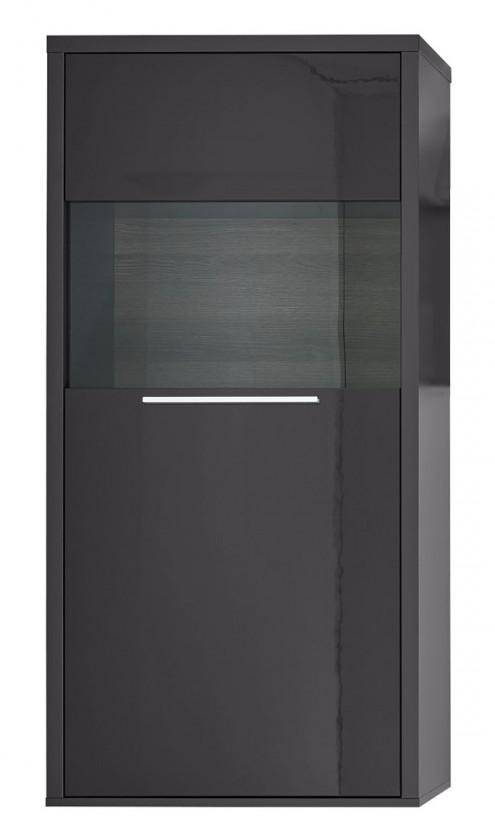 Komoda Gamble - Komoda 570121R (antracit/antracit lesk/panel dub tmavý)
