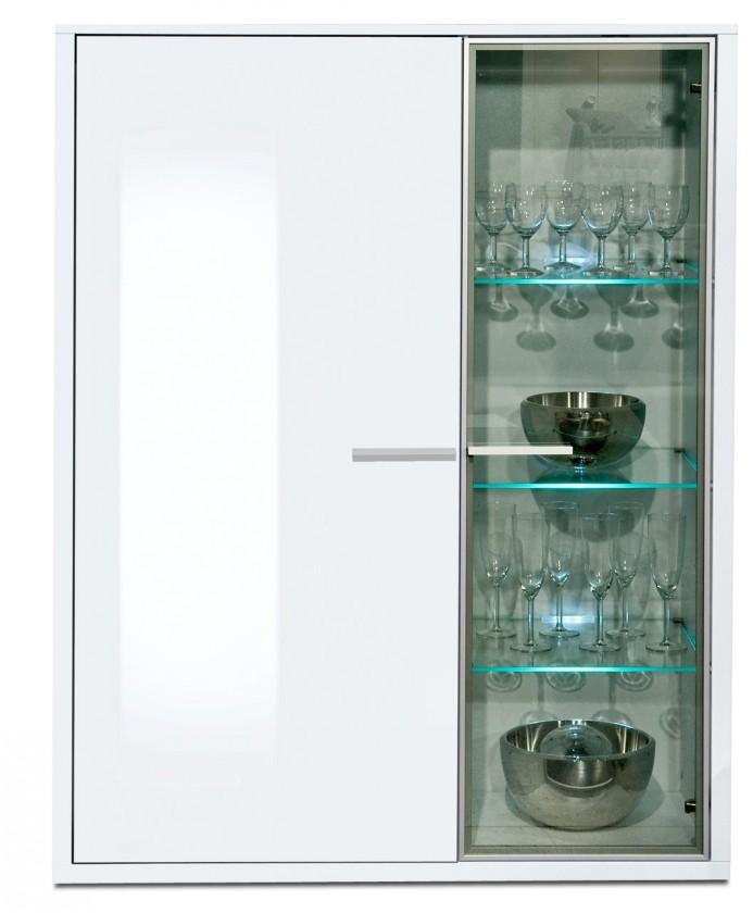 Komoda Game plus - komoda, 103 cm (biela/biela lak HG)