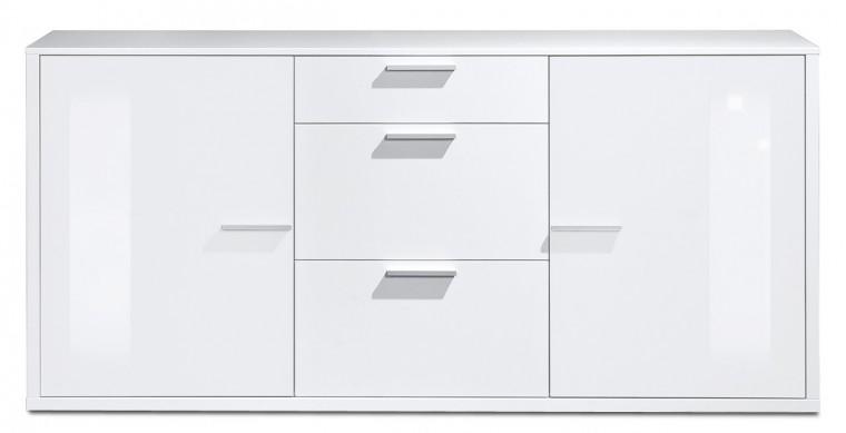 Komoda Game plus - komoda, 181 cm (biela/biela lak HG)