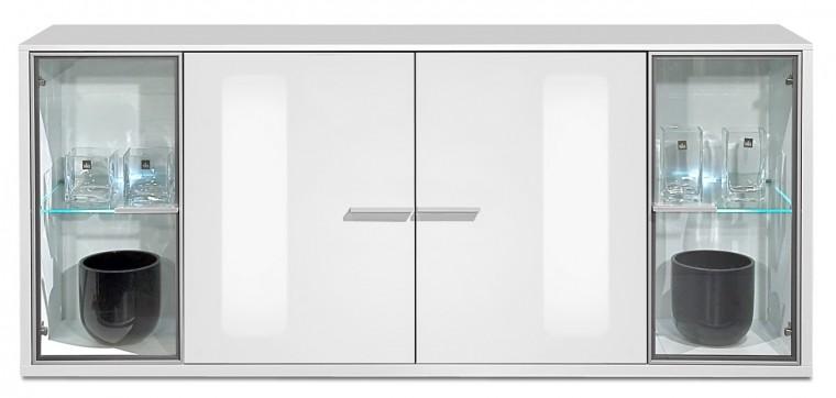 Komoda Game plus - komoda, 199,5 cm (biela/biela lak HG)