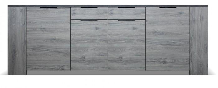 Komoda Glen (4x dvere, 2x zásuvka, figaro, betón)