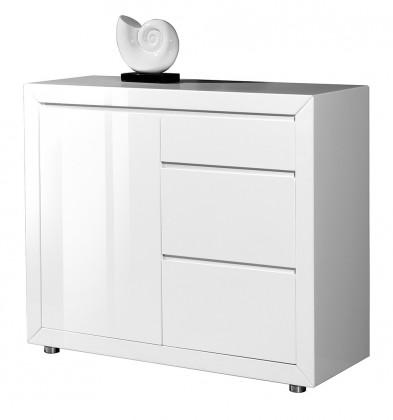 Komoda GW-Fino - Skrinka,1x dvere,3x šuplík (biela)