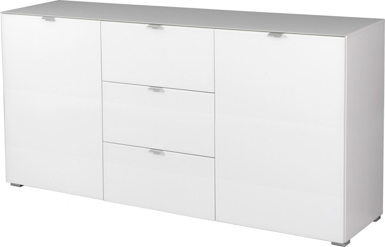 Komoda GW-Primera - skrinka, 2x dvere, 3x šuplík (biela)