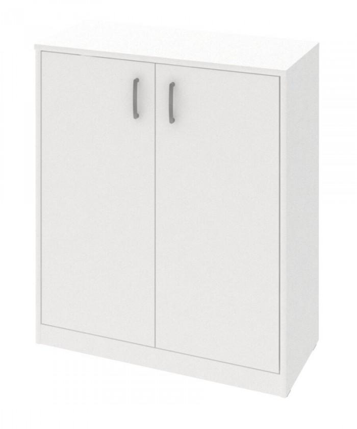 Komoda Kobo - komoda, 2 dvere, 2 police (biela arctic)