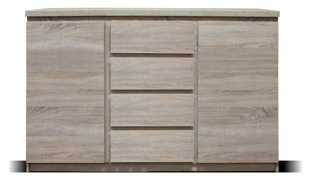 Komoda Komoda Lozano (2x dvere, 4x zásuvka, sonoma)