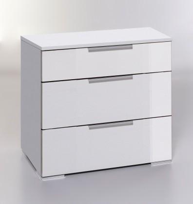Komoda LevelUp D - Komoda, 3x zásuvka (biela VL, biela)
