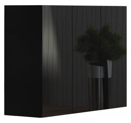 Komoda Livo - Komoda 120 (černá mat/černá lesk)