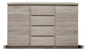 Komoda Lozano (2x dvere, 4x zásuvka, sonoma)