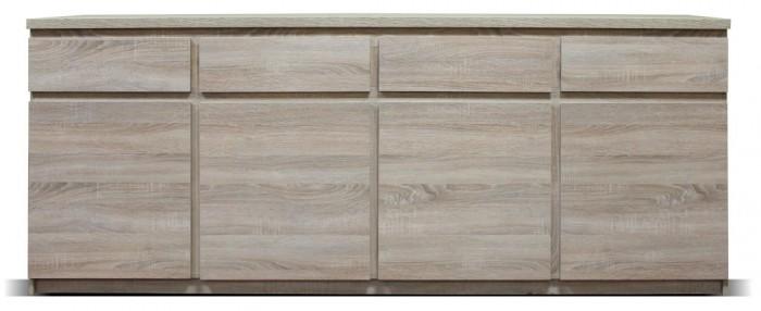 Komoda Lozano (4x dvere, 4x zásuvka, sonoma).