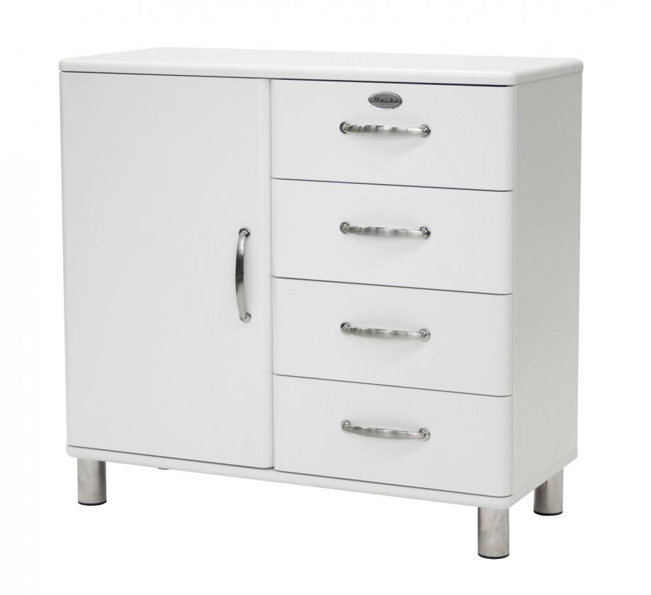 Komoda Malibu - komoda, 1x dvere, 4x zásuvka