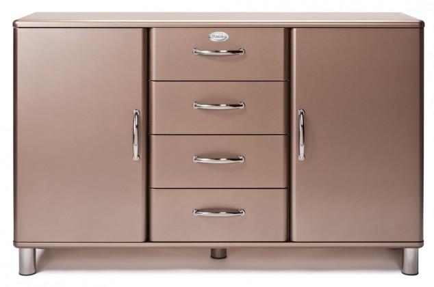 Komoda Malibu - Komoda (bronzová, 2x dvere, 4x zásuvka)