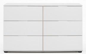 Komoda Medina - 6x zásuvka, alpská biela - II. akosť