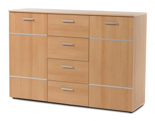Komoda Panteras - Komoda, 2x dvere, 4x zásuvka (buk)