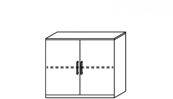 Komoda Quadra - komoda, 2x dvierka