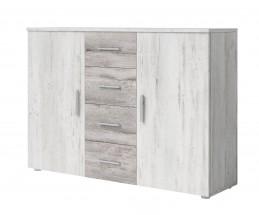 Komoda Vera - kombi, 2x dvere + 4x zásuvka, pínie