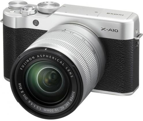 Kompakt s výmenným objektívom FUJIFILM X-A10 silver/black + XC16-50