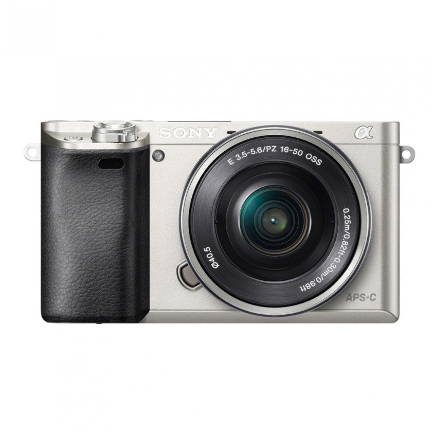 Kompakt s výmenným objektívom Sony Alpha 6000, 16-50mm, Silver (ILCE6000LS.CEC)