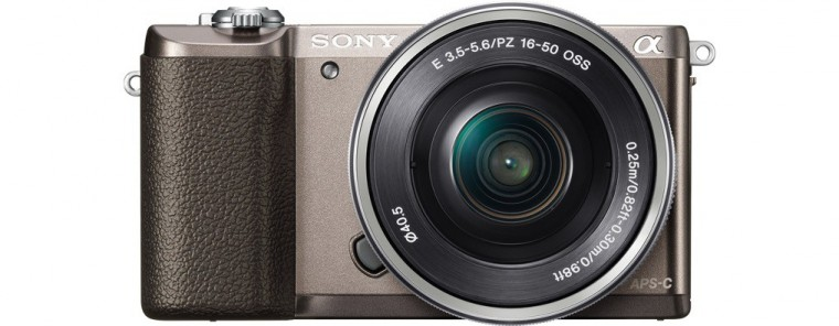 Kompakt s výmenným objektívom Sony Alpha A5100, 16-50mm, Brown (ILCE5100LT.CEC)