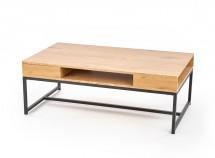 Konferenčný stolík Almera (dub zlatý, čierna)