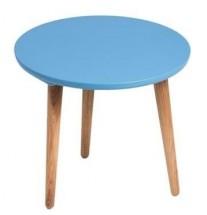 Konferenčný stolík Bergen - stredný (modrá doska/dub nohy)