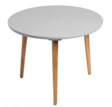 Konferenčný stolík Bergen - stredný (sivá doska/dub nohy)