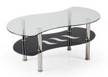 Konferenčný stolík Catania(sklo/ čierna police)