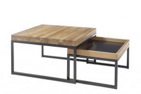 Konferenčný stolík Dorset - set 2 kusov (hnedá)