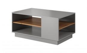 Konferenčný stolík Duras (1 polica, lamino, sivá/hnedá)
