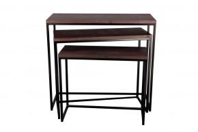 Konferenčný stolík Giewont - set 3 kusů (čierna/javor)
