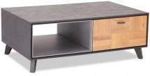 Konferenčný stolík Hakon - 120x45x75 cm (hnedá, sivá)